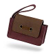 Plum Horizontal Pouch with Brown