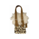 Leopard Pouch with Fur Trim